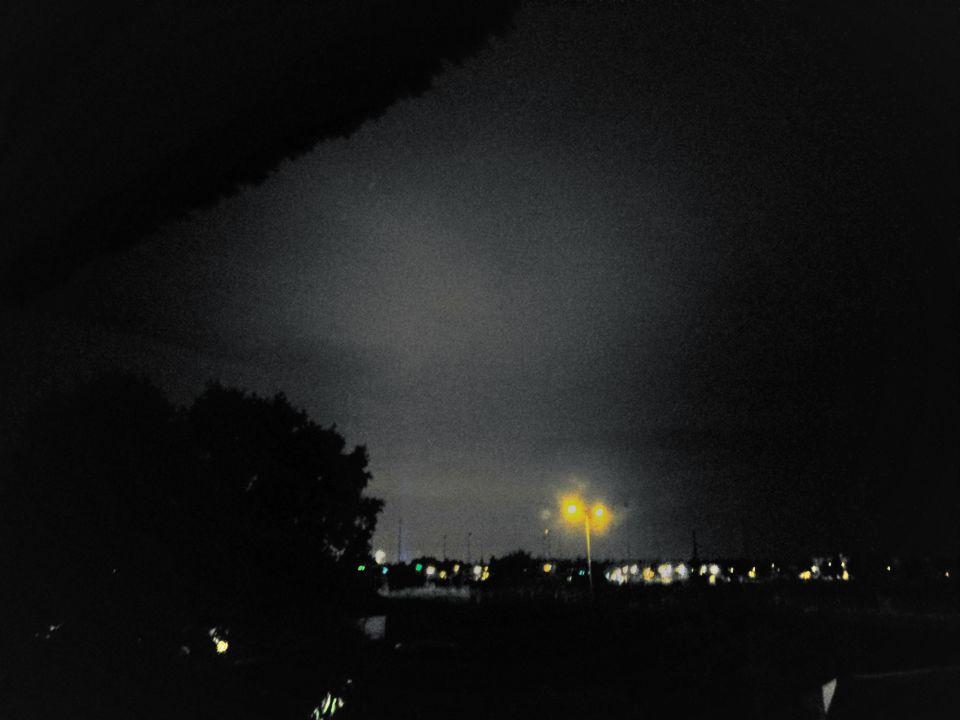 Bewegende lichtstraal foto