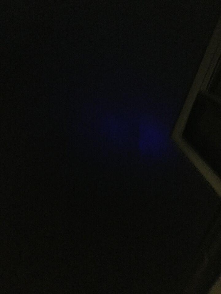 Blauwe lichtvlek foto