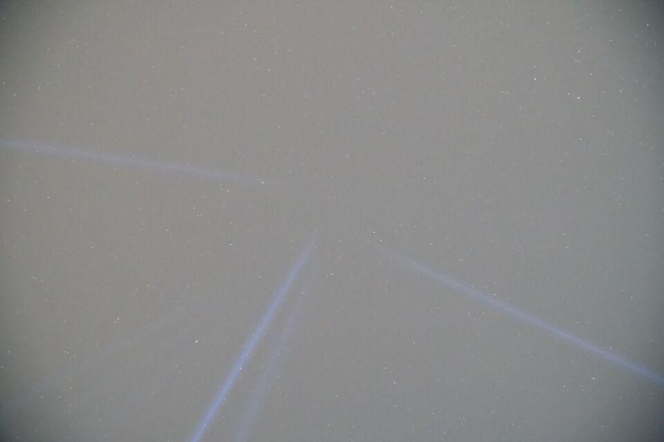 Witen licht lijnen foto