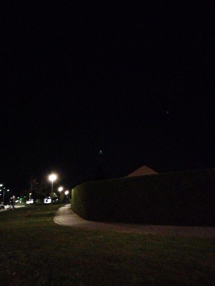 Lichtbol met uitvloeiend licht foto