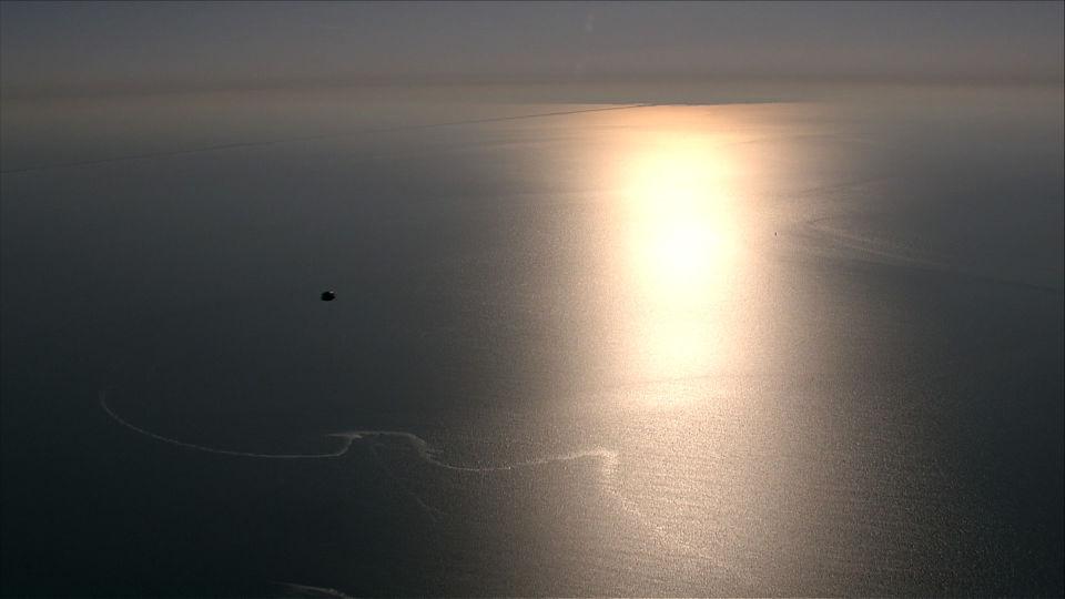 UFO boven Waddenzee foto