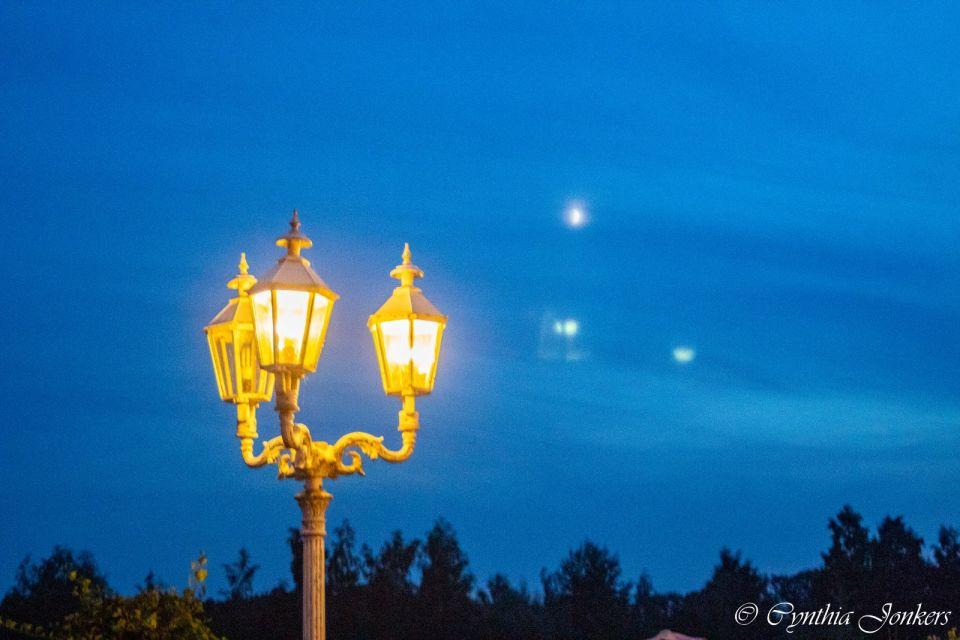 Foto van lantaarn tijdens bruiloft en 3 lichten foto