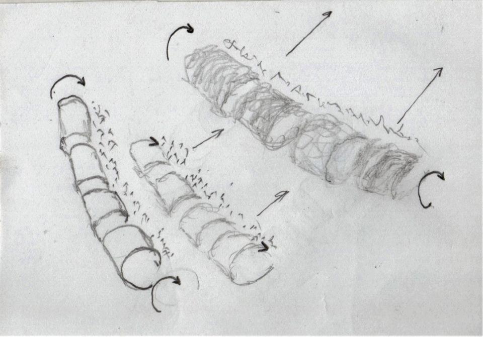 """Vreemd spiraalvormig """"kronkelend"""" voorwerp in de lucht. foto"""