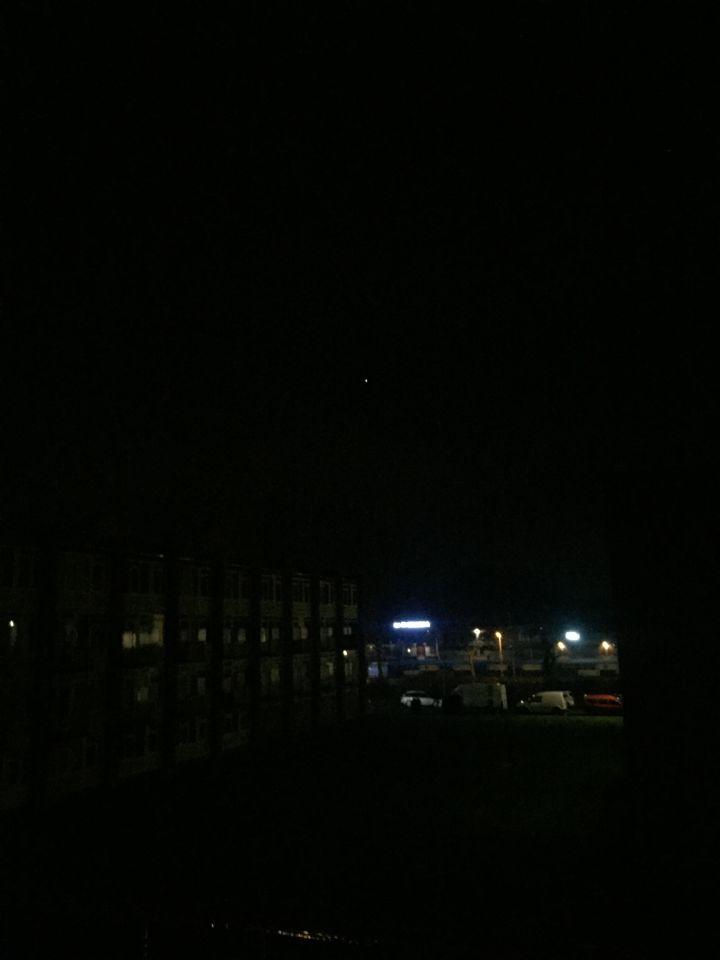 Een bewegende lichtbol foto