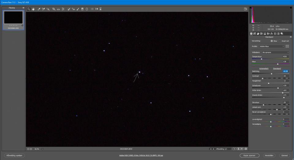 Rechthoekig structuur naast een ster (telelens) foto