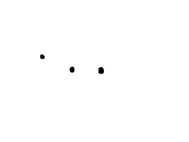 """Drie heldere """"sterren"""" naast elkaar, die plots """"uit"""" gingen.Zutphen. schets"""