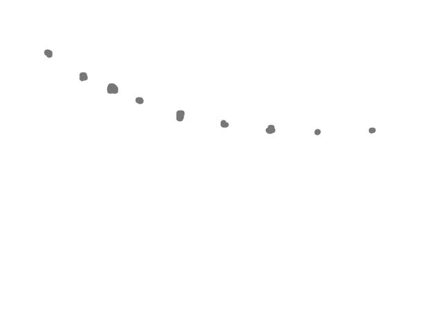 12 lichtbollen in een rij boven Barneveld schets