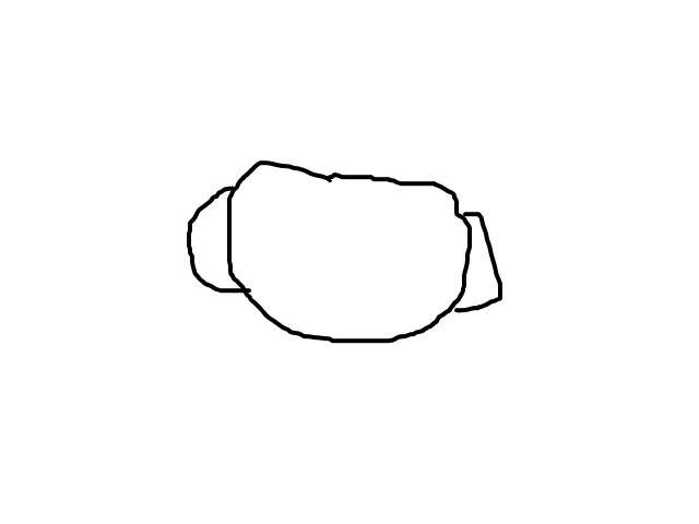 """Cilindervormig object met 2 """"handvaten"""", fel licht, stilstaand schets"""