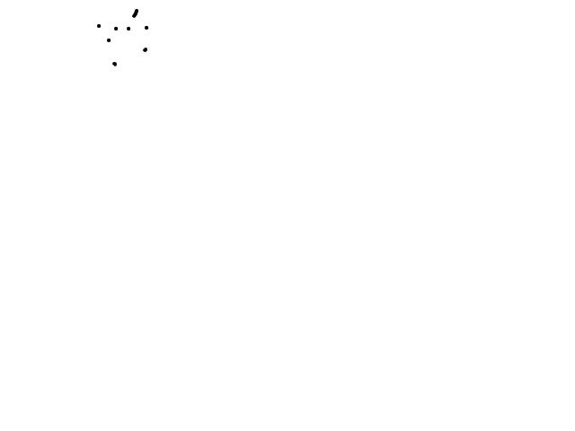 Heleboel licht punten bij elkaar schets