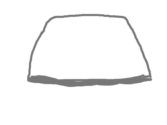 Metaalroomwit driehoekachtig trapezoid object hengelo/haven schets
