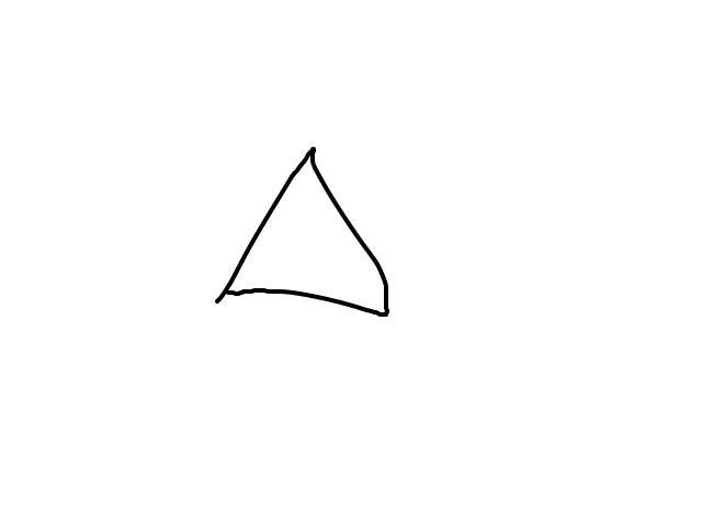 Piramide in het blauw schets