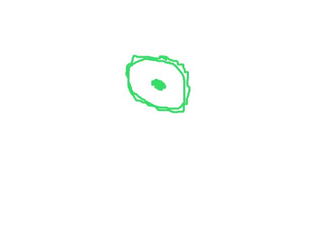 1 ring van licht groen licht en toen vloog het met ongekende snelheid naar boven schets