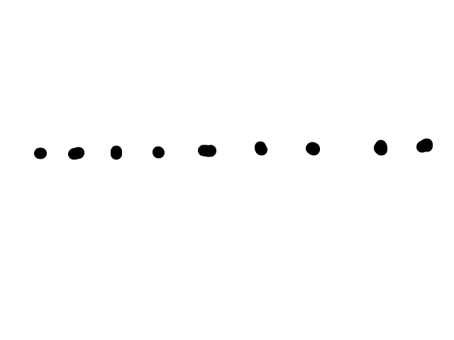 Lichtbollen op hoge snelheid op rechte lijn door de lucht, op grote hoogte schets
