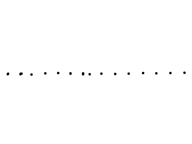 Lange rij van lichtpunten schets