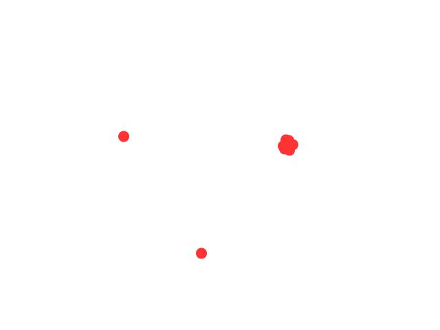 3 rode lichten in formatie schets