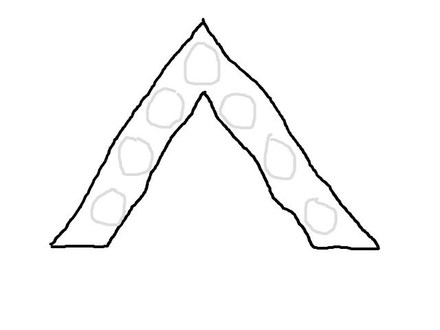 Driehoek boven borculo gezien schets