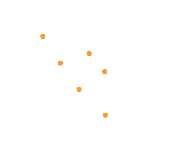 2 bolletjes werden achter na gezetten door 4 bolletjes in formatie vliegend. schets