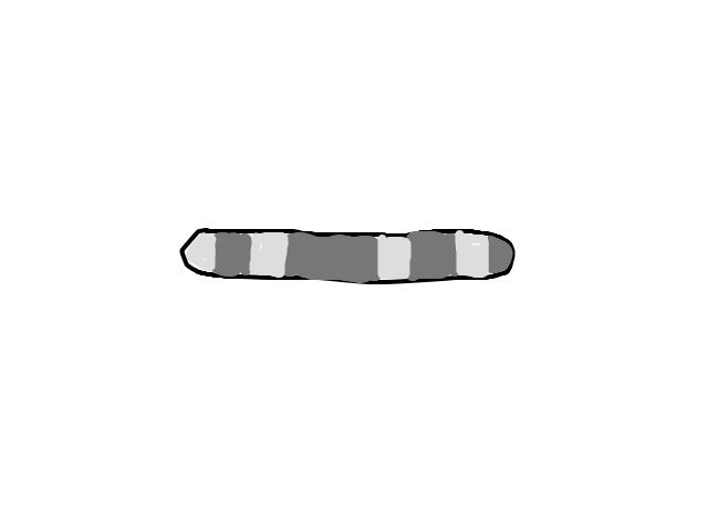 Sigaarvormig object schets