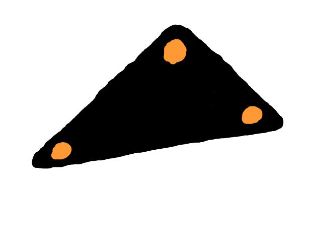 Groot geruisloos zeer snel vliegende driehoek. schets