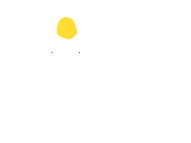 Twee keer een blauwe lichtflits gezien schets