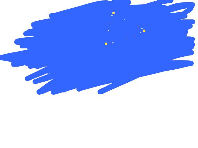 Onzichtbaar object omringt door snel knipperende lichtjes schets