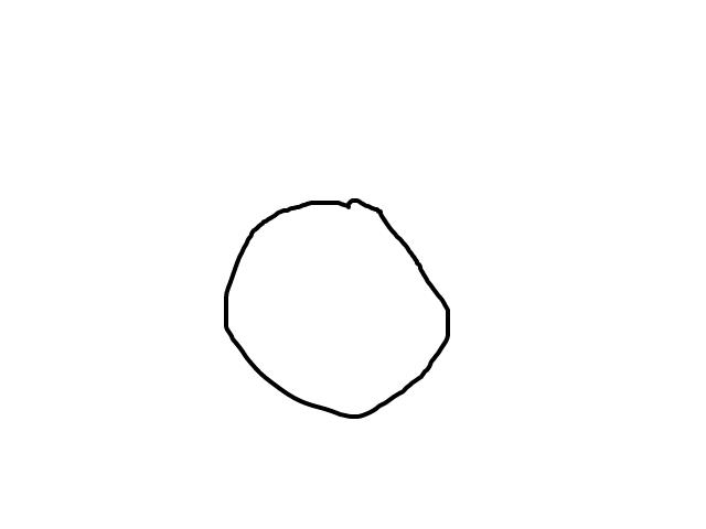 Rondebol blauw met heel veel snelheid schets