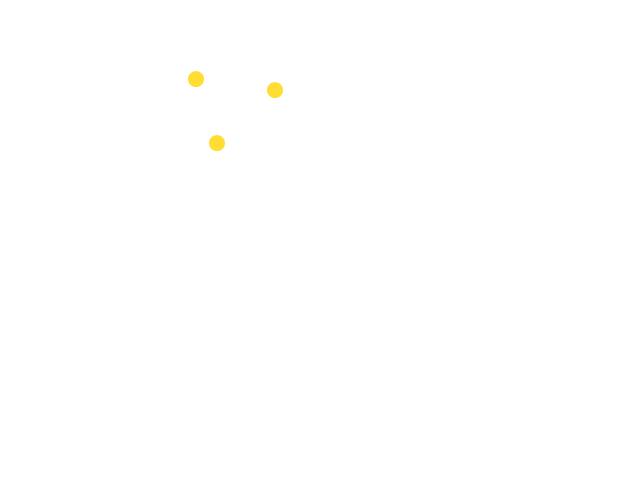 Drie gedempte lichten in de vorm van een driehoek die over vloog vanaf Dordrecht schets