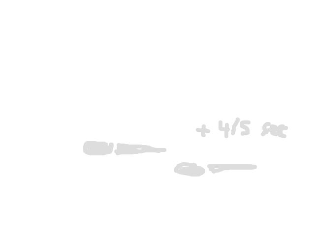 2 helder witte bollen met een kleine staart erachter kort na elkaar schets